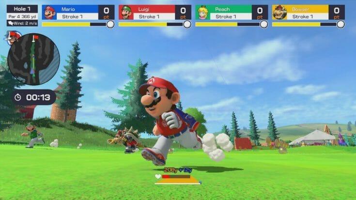 Mario Golf Super Rush Screenshot 2 Écran Partagé