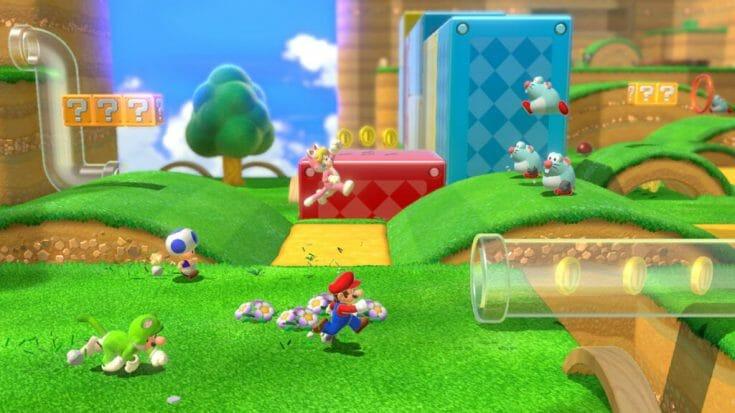 Super Mario 3D World Screenshot 1 Écran Partagé