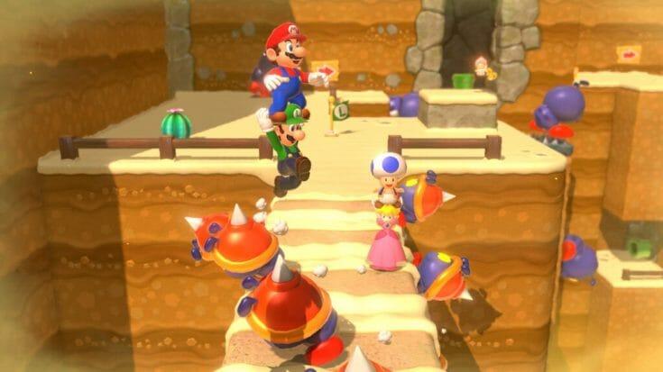 Super Mario 3D World Screenshot 2 Écran Partagé