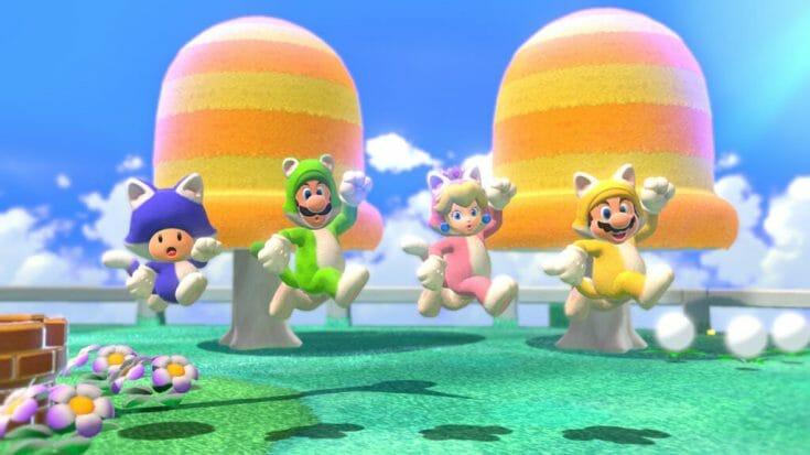 Super Mario 3D World Screenshot 3 Écran Partagé