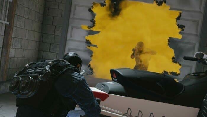 Un combat dans le gaz dans Rainbow Six Siege