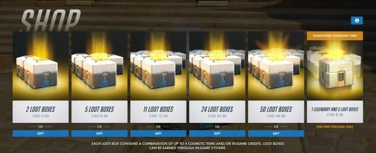 Overwatch Loot Boxes Shop Ecran Partage